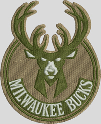 Milwaukee Bucks-Bucks, Milwaukee, basketball, basketball embroidery, machine embroidery, sports