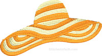 Straw hat-straw hat, hat embroidery, summer embroidery, beach embroidery, machine embroidery, fun embroidery, hats embroidery