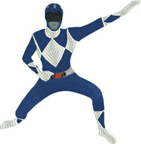 blue Power Ranger-Power Ranger, Blue Power ranger, toys, ranger, action figures, machine embroidery
