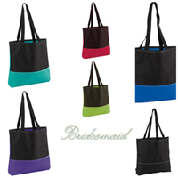 Bridesmaid embroidered Totes-Bridesmaids, Bridemaid, gift, totes, embroidered totes