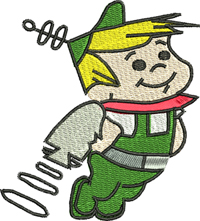Elroy Jetson-Elroy, Elroy Jetson, machine embroidery, Elroy embroidery