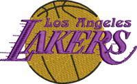 Los Angeles Lakers-Los Angeles, Lakers, LA, machine embroidery, sports embroidery, basketball