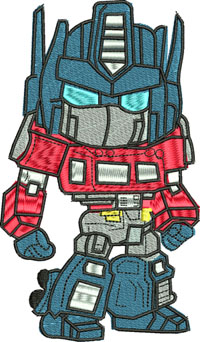 Optimus Prime-Transformers, Optimus Prime, machine embroidery, transformers embroidery, Optimus embroidery, Optimus prime embroidery