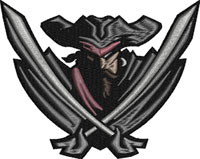 Pirate Emblem-Pirate embroidery, machine embroidery, Pirates, Pirate logo, embroidery