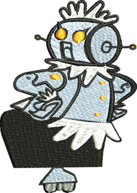 Rosie the Robot Jetson-Rosie the robot, Jetson, machine embroidery , Jetson embroidery, Jetsons