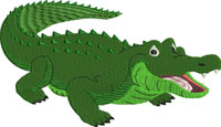Alligator-machine embroidery, alligator, embroidery, reptile, animal embroidery