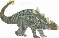 Ankylosaurus-Alkylosaurus, dinosaurs, machine embroidery, embroidery, dino, animal embroidery pre-historic
