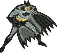 Batman-Batman embroidery, super heros, machine embroidery, embroidery, action figures