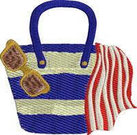 Beach bag-Beach bags, machine embroidery designs, summer embroidery, summer, embroidery, totes, bag