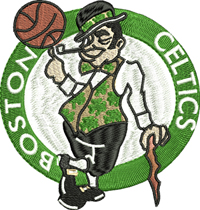 Boston Celtics-Boston Celtics, Boston basketball, basketball teams, machine embroidery, embroidery designs