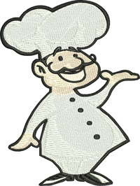 Chef-Chef, Chef embroidery, machine embroidery, kitchen embroidery