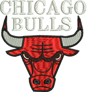 Chicago Bulls-Chicago, basketball, machine embroidery, sports, basketball embroidery