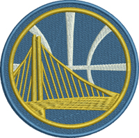 Golden State Warriors basketball-Basketball, embroidery, machine embroidery, Golden State, Warriors