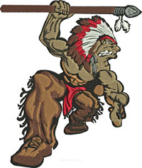 Indian Warrior-Indian embroidery, Indian warrior embroidery, warrior embroidery, machine embroidery, American Indian embroidery, Indian machine embroidery, stitchedinfaith.com