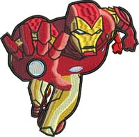 Iron Man-Iron man embroidery, Iron man, machine embroidery