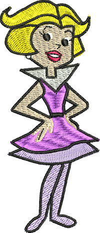 Jane Jetson-Jetsons, Jane Jetson, machine embroidery
