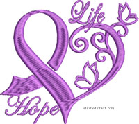 Life Hope-Awareness ribbons, cancer, ribbon,