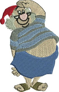 Mr Smee-Mr Smee, machine embroidery, smee, embroidery, designs, peter, pan