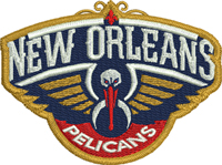 New Orleans Pelicans-New Orleans, Pelicans, basketball, sports, machine embroidery, sports, embroidery, basketball embroidery