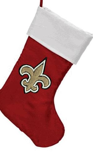 New Orleans Saints Christmas stockign