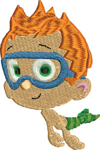 Bubble Guppies Nonny-Bubble Guppies, Nonny, machine embroidery, embroidery, embroidery for children
