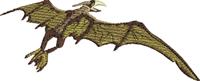 Pieranodon-Dinosaurs, Pieranodon, animal embroidery, fantasy embroidery, prehistoric animals