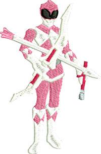Pink Power Ranger-Pink Power Ranger, Power Ranger, machine embroidery, embroidery, embroidery designs, toys