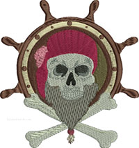 Pirate Helm-Pirate, Pirates, Helm, embroidery, machine embroidery