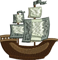 Pirate Ship-Pirate, ship, pirate ship, machine embroidery designs, embroidery, embroidery designs.