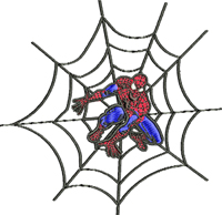Spiderman Web-Spiderman, Spiderman web, Spiderman embroidery, machine embroidery