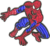 Spiderman-Spiderman embroidery, machine embroidery, super heros embroidery