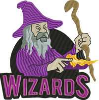 Wizards-Wizards, Wizard embroidery, machine embroidery, fantasy embroidery