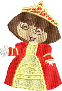 Dora Princess-Dora, Princess, Dora explorer, girls embroidery, machine embroidery,