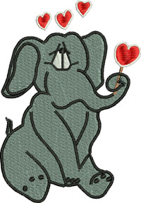 Elephant Love-Valentines Day, Elephant Love, Elephants, Elephant hearts, Elephant valentine