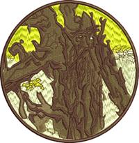 LOTR Tree-lotr, machine embroidery, tree, movies, lotr tree