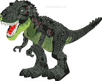 T Rex-T Rex, dinosaur, machine embroidery, embroidery,
