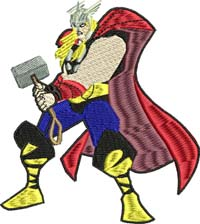 Thor-Thor, Thor embroidery, machine embroidery, advengers