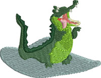 Tic Toc Crocodile-Crocodile, tic toc, alligator, peter pan, machine embroidery, embroidery designs