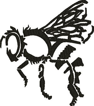 Bee Silhouette-machine embroidery bees bee bee silhouette