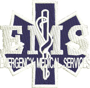 Emergency Medical Services-MACHINE EMBROIDERY PATCHES EMERGENCY MEDICAL SERVICES MEDICAL EMERGENCY DESIGNS