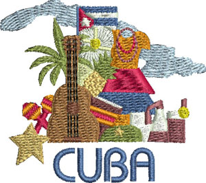 Cuba-Cuba embroidery, machine embroidery, Country embroidery, embroidery designs