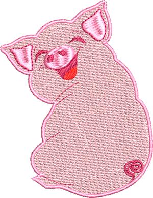 Adorable piggy-Pig, Piggy, baby pig, cute pig, machine embroidery