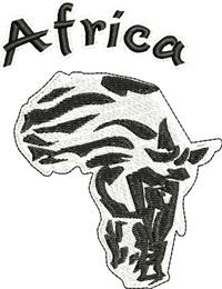 Africa Zebra-Zebra machine embroidery Africa,Zebra, Africa, machine embroidery, animal embroidery,