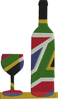 African Wine-Africa, Wine, African wine, machine embroidery