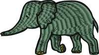 African elephant-elephant African elephant machine embroidery animals
