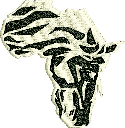 Zebra  shape of Africa