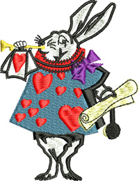 Alice Royal Guard-Alice in Wonderland, Royal Guard, Rabbit, queen of hearts, Heart card,