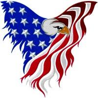 American Eagle Flag-American eagle american flag American eagle flag USA flags Red white and blue machine embroidery stitchedinfaith.com