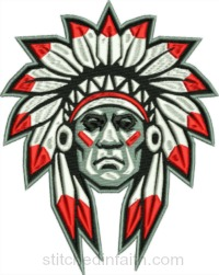 American Indian-American Indian chief, Indian embroidery, machine embroidery, Indian Chief embroidery, people embroidery, Indians embroidery, stitchedinfaith.com