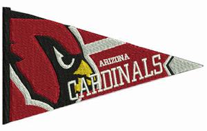 Arizona cardinals pendent-Football, Arizona, Cardinals, pendents, sports, machine embroidery